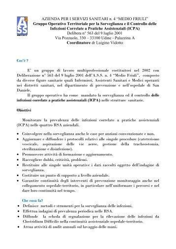 GRUPPO OPERATIVO TERRITORIALE PER LA ... - Medio Friuli