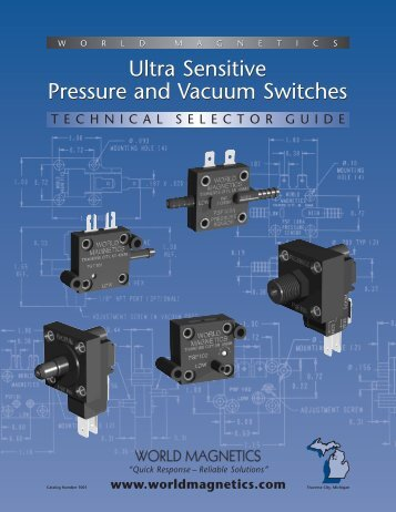 Ultra Sensitive Pressure and Vacuum Switches ... - Marktechnical.nl