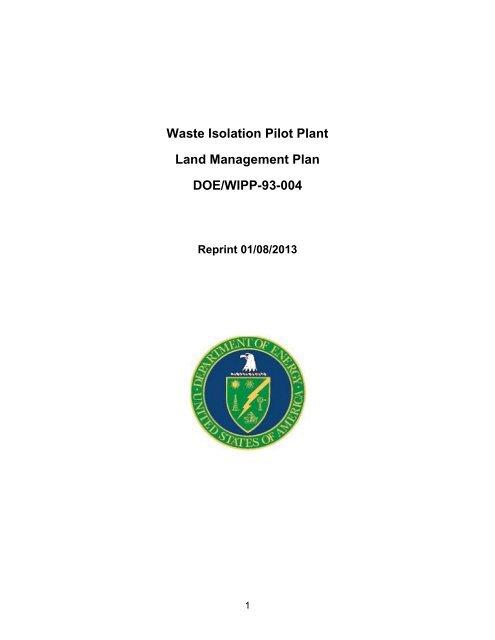 WIPP Land Management Plan - Waste Isolation Pilot Plant - U.S. ...