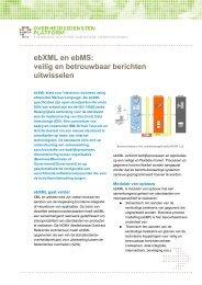 ebXML en ebMS: veilig en betrouwbaar berichten uitwisselen - Logius