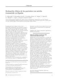 Evaluación clínica de los pacientes con artritis reumatoide en España