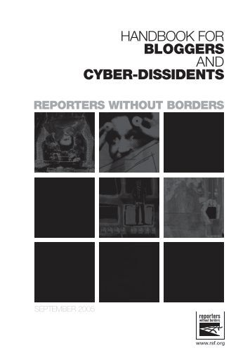 handbook for bloggers and cyber-dissidents - Reporters Without ...