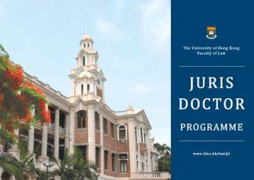 Programme Brochure - Faculty of Law, The University of Hong Kong