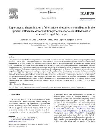 Experimental determination of the surface ... - Pages perso