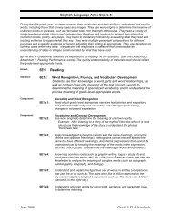 English Language Arts: Grade 5 June 2009 Grade 5 ELA ... - DoDEA