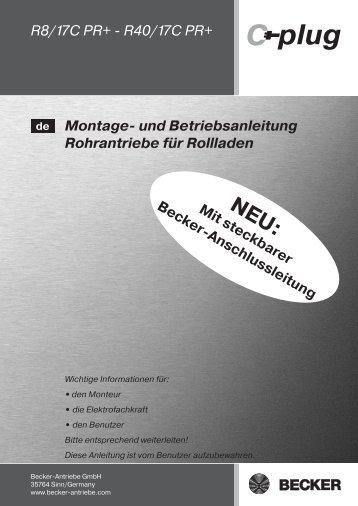 Becker Rohrmotor CPR Anleitung - auf enobi.de