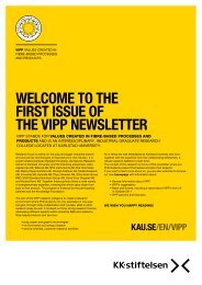 WELCOME TO THE FIRST ISSUE OF THE VIPP NEWSLETTER