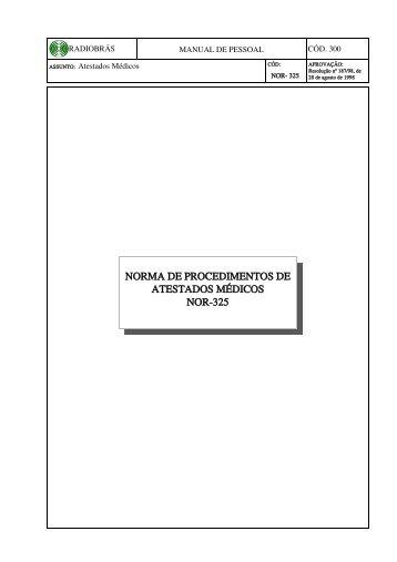 325 Norma de Exames Ocupacionais e Atestados Médicos - EBC