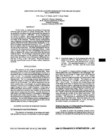 Amplitude and Phase Acoustic Microscopy for Ceramic Bearing Ball ...