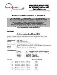 Ausschreibung - Polytechnische Schule in Tamsweg