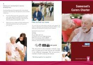Carers Charter DL Leaflet - Somerset County Council