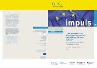 Den Europäischen Bildungsraum gestalten– LEONARDO ... - NA-BIBB