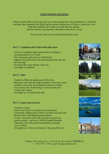 Golf tour in Slovenia - Kompas Novo mesto