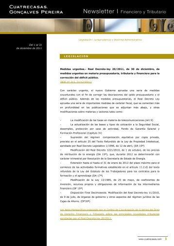 Financiero y Tributario - Cuatrecasas