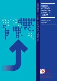 Airlie 2011 Participants' Profil... - Emerging Markets Forum