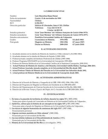 Descargar Curriculum Vitae - Universidad del Bío-Bío