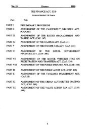 Finance Act 2010 - TRA