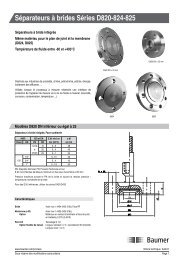 Séparateurs à brides Séries D820-824-825 - Baumer