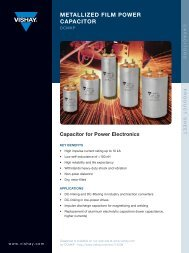 Capacitor for Power Electronics