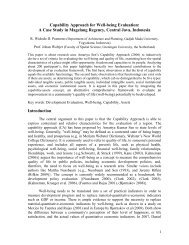 Capability Approach for Well-being Evaluation: - Regional Studies ...