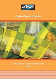 Candidates Information Handbook - Clutha District Council