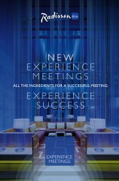 NEW EXPERIENCE MEETINGS EXPERIENCE ... - Radisson Blu