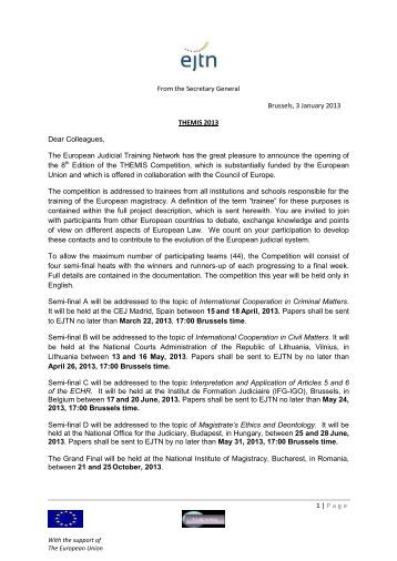 Invitation letter - EJTN