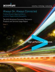 The 2012 Accenture Consumer Electronics Products and Services ...