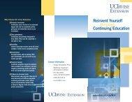Reinvent Yourself through Continuing Education - UC Irvine ...