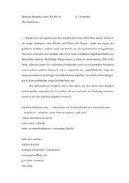 Oberkurs Deutsch-Latein (WS 09/10) B.-J. Schröder ...