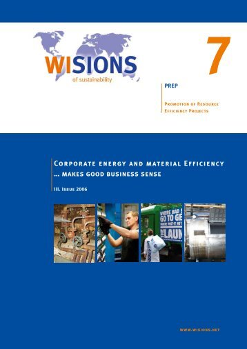 Corporate energy and material Efficiency - WISIONS of sustainability