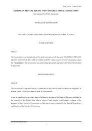 EVCA Articles of Association