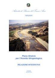 Piano Stralcio per l'Assetto Idrogeologico RELAZIONE INTEGRATIVA
