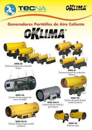 Cañones a gas OKCLIMA - Tecna