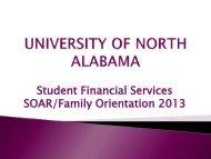 2013-2014 SOAR Financial Aid Presentation - University of North ...