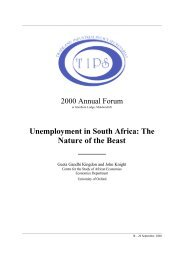 Unemployment in South Africa: The Nature of the Beast - tips