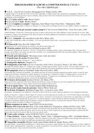 BIBLIOGRAPHIE ALBUMS A COMPTER