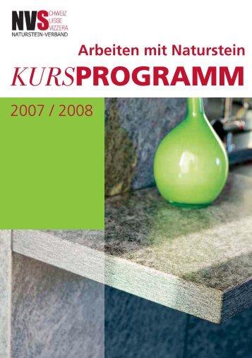Kurs-Nr. 110 A - Naturstein-Verband Schweiz (NVS)