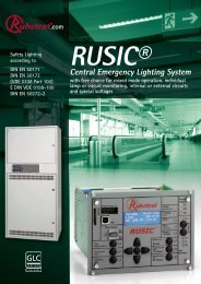 Central Emergency Lighting System - Ruhstrat GmbH