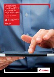 Les solutions mobiles et Cloud au service de votre ... - Canon
