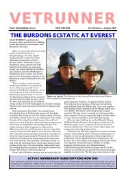 the burdons ecstatic at everest - ACT Veterans Athletics Club