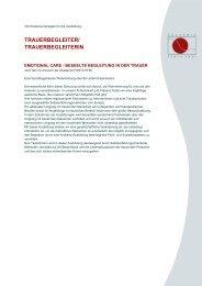 TRAUERBEGLEITER/ TRAUERBEGLEITERIN - Akademie Panta Rhei