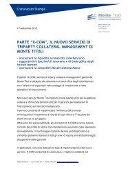 """PARTE """"X-COM"""", IL NUOVO SERVIZIO DI TRIPARTY ... - Monte Titoli"""