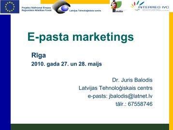 E-pasta marketings - EVITA