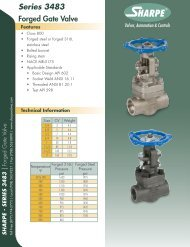 Series 3483 Forged Gate Valve - Sharpe® Valves