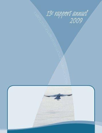 13e rapport annuel 2009