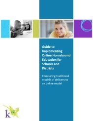 Guide to Implementing Online Homebound Education for ... - K12.com