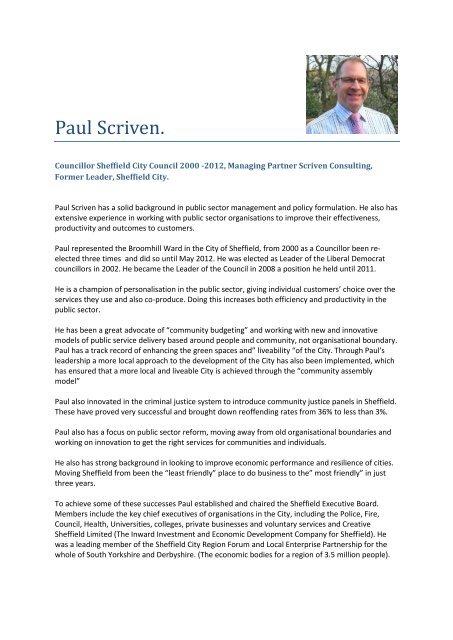 Paul Scriven.