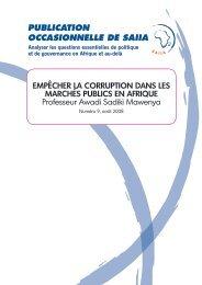 EmpêchEr la corruption dans lEs marchés publics En afriquE ...