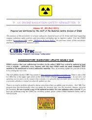 uc irvine radiation safety newsletter - UCI Environmental Health ...